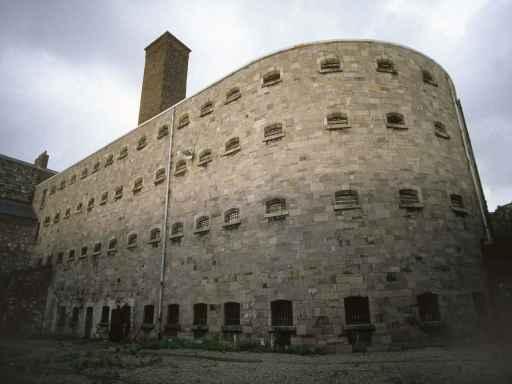 Kilmainham Gaol prison cells from the outside